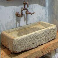 reclaimed stone sink